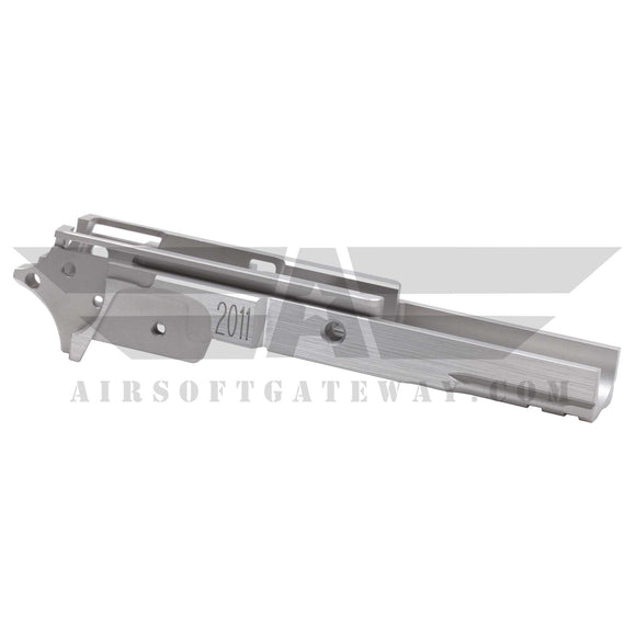 Airsoft Masterpiece Aluminum Frame - 2011 3.9 inch with Tactical Rail SILVER - airsoftgateway.com