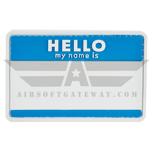 G-FORCE Hello My Name Is PVC Patch