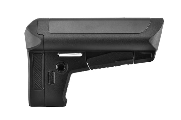 Krytac Adjustable Crane Style Retractable Stock for M4 Series AEG Rifles - Black - airsoftgateway.com