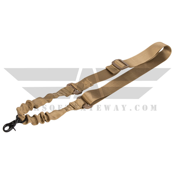 Lancer Tactical Simple Single Point Bungee Sling Tan - airsoftgateway.com