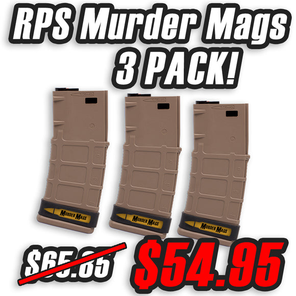 RPS Murder Magazine for M4 AEGS - 3 Pack - TAN