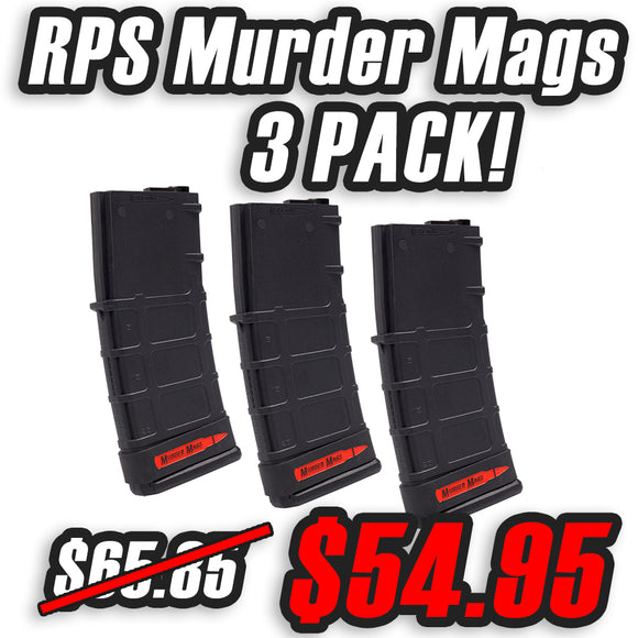 RPS Murder Magazine for M4 AEGS - 3 Pack - BLACK