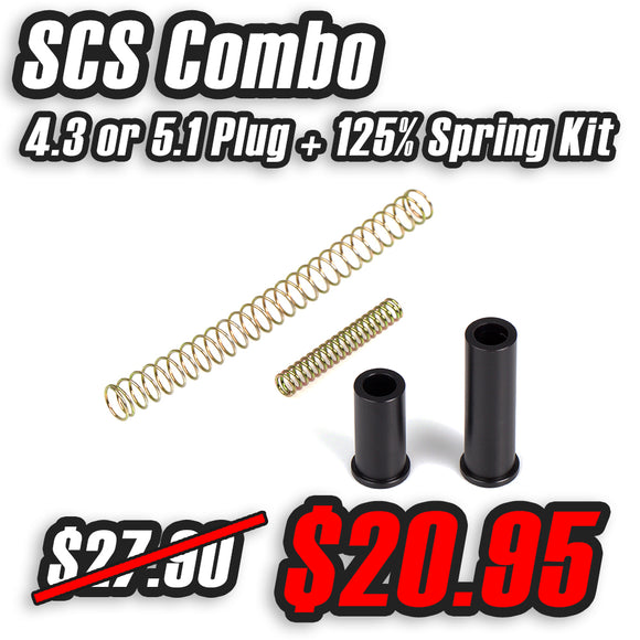 SCS 125% Hammer & Recoil Spring + Delrin Guide Plug Package