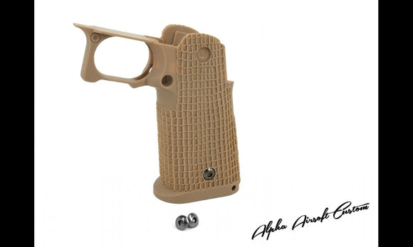 Alpha Airsoft Custom S Style Costa Grip (Desert Sand) - airsoftgateway.com