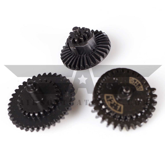 SHS Gear Set For V2/V3 With 10T Bevel - 12:1 Ratio - (#H2-2) - airsoftgateway.com
