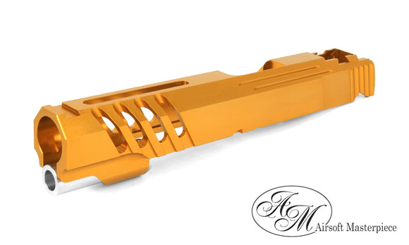 Airsoft MasterPiece Saber Slide for Tokyo Marui Hi-Capa 5.1 - NO MARKING - Orange - airsoftgateway.com