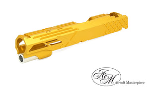 "Airsoft Masterpiece Custom ""X-2"" Standard Slide for Hi-CAPA/1911 GOLD - airsoftgateway.com"