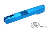 Airsoft Masterpiece Top Shot Standard Slide for Tokyo Marui Hi-CAPA/1911 - Blue - airsoftgateway.com