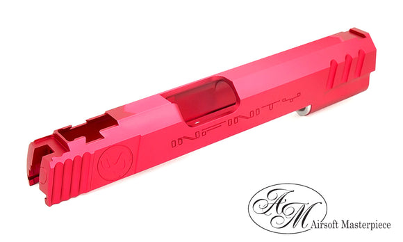 Airsoft Masterpiece TOP SHOT Standard Slide for Tokyo Marui HI-CAPA/1911 - Red - airsoftgateway.com