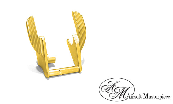 Airsoft Masterpiece Steel Thumb Safeties - S Style GOLD - airsoftgateway.com
