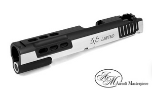 Airsoft Masterpiece DVC STI Limited Standard Slide - 2Tone Black/Silver - airsoftgateway.com