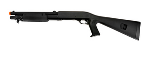 Double Eagle M56A Tri-Shot Spring Shotgun Pistol Grip Full Stock - airsoftgateway.com