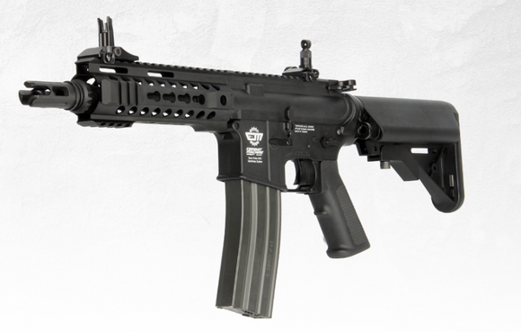 G&G Airsoft CQB M4 Combat Machine 300BOT AEG Rifle - BLACK - airsoftgateway.com