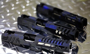 Airsoft Gateway Custom Anodized Airsoft Masterpiece Saber (No Marking) 5.1 Slide - Blue Acid Trip - airsoftgateway.com