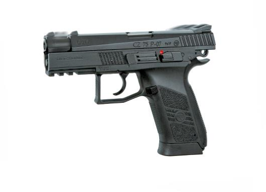 ASG CZ 75 P-07 Duty Blowback Co2 4.5mm Pellet BB Pistol - Black - airsoftgateway.com