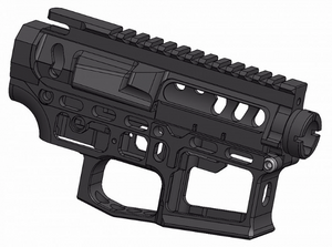 Retro Arms CNC receiver Skeletonized For Airsoft Guns- Type C - Black - airsoftgateway.com