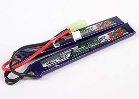 Turnigy Nano-Tech 7.4v 25c 1200mAh Lipo - Mini Tamiya - Split Type - airsoftgateway.com