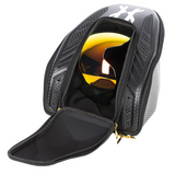 HK Army EXO Paintball Mask Goggle Case - Black Carbon Fiber / Gold - airsoftgateway.com