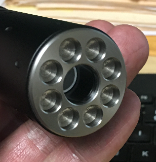 Ricochet BB Proof BEZEL Front Cap for Acetech Lighter BT Tracer - SS - airsoftgateway.com