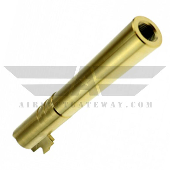 CowCow OB1 5.1 Threaded Outer Barrel .40 Marking Gold - airsoftgateway.com