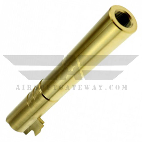 CowCow OB1 5.1 Threaded Outer Barrel .45 Marking Gold - airsoftgateway.com