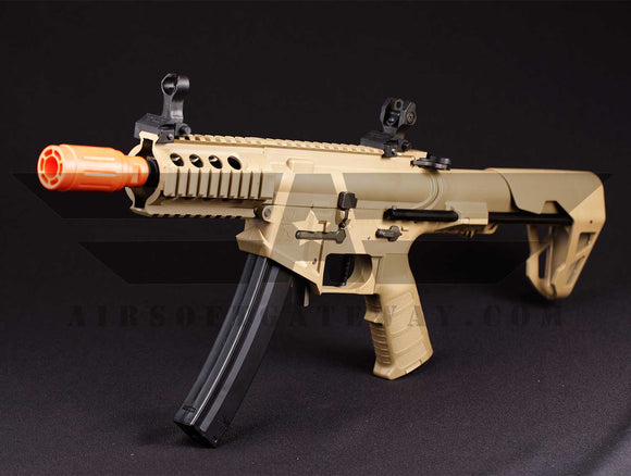 Tippmann - King Arms PDW 9mm SBR Shorty - Desert Earth - airsoftgateway.com
