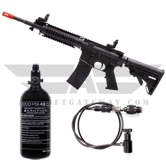 Tippmann M4 Carbine Airsoft HPA Rifle Long Barrel  - Black - airsoftgateway.com