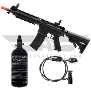 PACKAGE DEAL! Tippmann M4 Carbine Airsoft HPA Rifle Short Barrel - Black Includes Remote Line and Tank - airsoftgateway.com