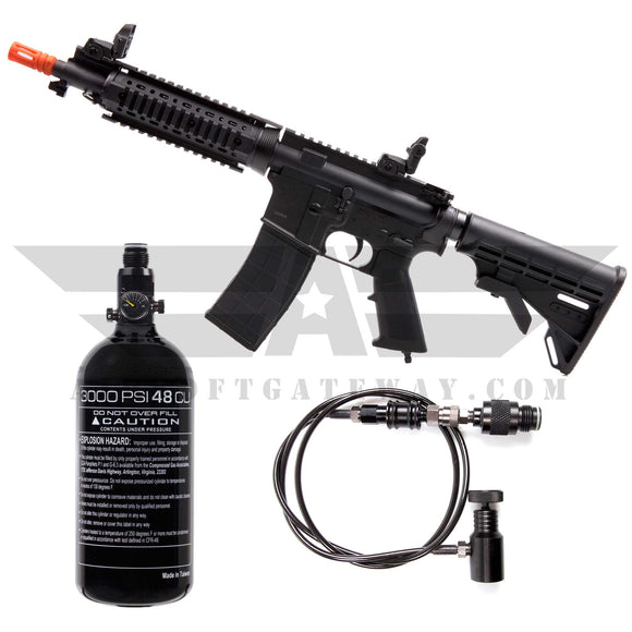 PACKAGE DEAL! Tippmann M4 Carbine Airsoft HPA Rifle Short Barrel - Black Includes Remote Line and Tank