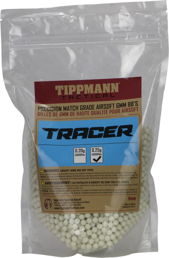 Tippmann Tracer BB's .25 4,000 Count - airsoftgateway.com