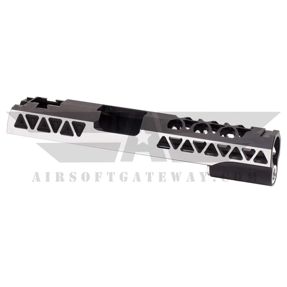 Airsoft Masterpiece Aluminum Triangles Slide for Tokyo Marui / Hi-Capa - Black 2 Tone - airsoftgateway.com