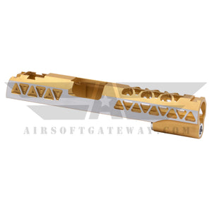 Airsoft Masterpiece Aluminum Triangles Slide for Tokyo Marui / Hi-Capa - Gold 2 Tone - airsoftgateway.com