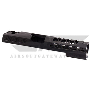 Airsoft Masterpiece Aluminum Triangles Slide for Tokyo Marui / Hi-Capa - Black -Z1 - airsoftgateway.com