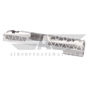 Airsoft Masterpiece Aluminum Triangles Slide for Tokyo Marui / Hi-Capa - Silver - airsoftgateway.com