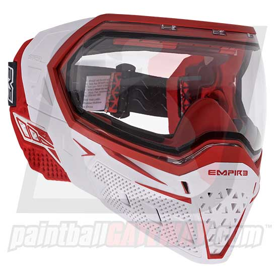 Empire EVS Paintball Goggle System - White/Red - airsoftgateway.com