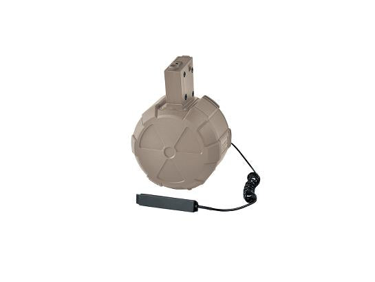 ICS Electric Drum Magazine - Tan - airsoftgateway.com