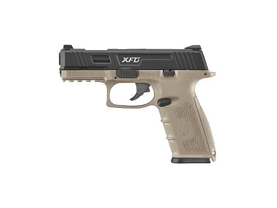 ICS XFG Gas Blowback Pistol - Black/Tan - airsoftgateway.com