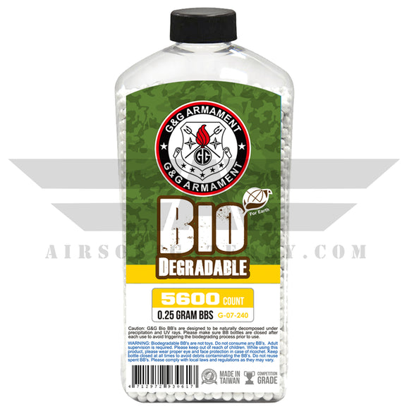G&G Armament BB .25 Grams 2700 Count - airsoftgateway.com