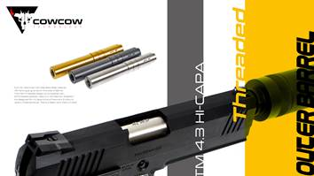 CowCow 4.3 Threaded Outer Barrel - .45 Marking - Silver - airsoftgateway.com
