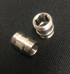 SCS Pistol Outer Barrel Adapter with Thread Protector - Positive 11mm to Negative 14mm Threads - airsoftgateway.com