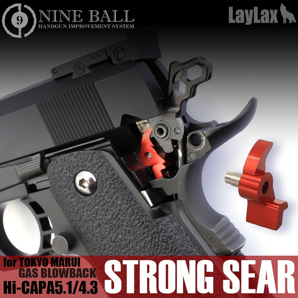Nineball Enhanced Hammer Sear for Tokyo Marui Hi-CAPA - Red - airsoftgateway.com