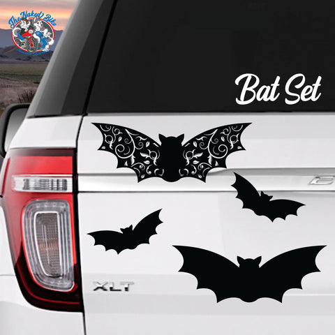 Gothic Bats Sticker Set