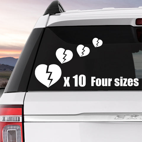 Broken Hearts 10 Pack Stickers