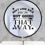 Don't Look Back Sticker