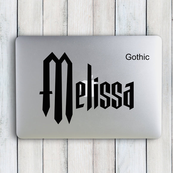 The Melissa Custom Name Sticker