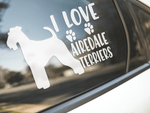 I Love Airedale Terriers Sticker