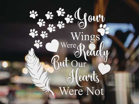 Your Wings Were Ready Sticker