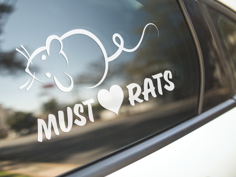 Must Love Rats Sticker