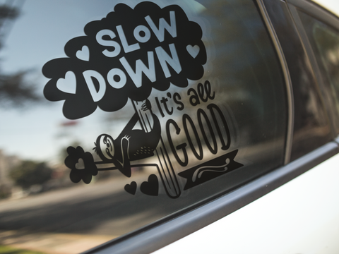 Sloth Slow Down Sticker