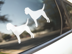Border Terrier Dog Silhouette Stickers